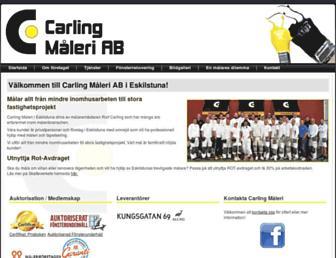 Main page screenshot of carlingmaleri.se