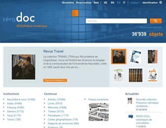doc.rero.ch screenshot