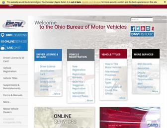 bmv.ohio.gov screenshot