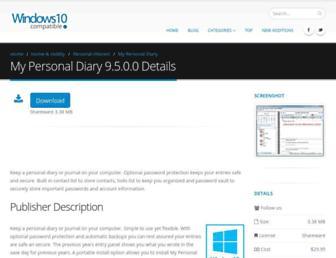my-personal-diary.windows10compatible.com screenshot