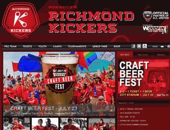 richmondkickers.com screenshot