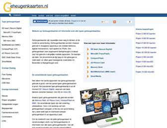 Main page screenshot of geheugenkaarten.nl