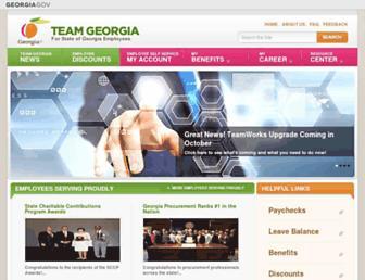 team.georgia.gov screenshot