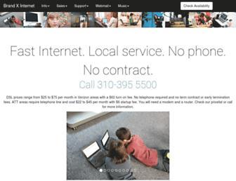 Main page screenshot of brandx.net