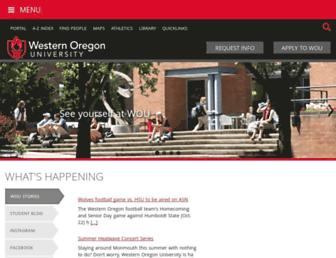 wou.edu screenshot