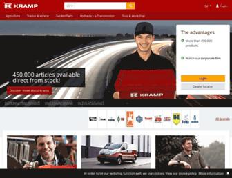 kramp.com screenshot