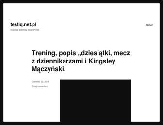 Main page screenshot of testiq.net.pl
