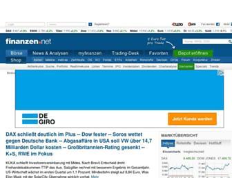finanzen.net screenshot