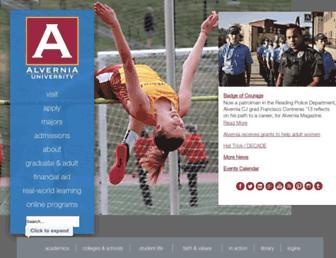 alvernia.edu screenshot