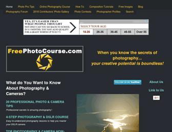 freephotocourse.com screenshot