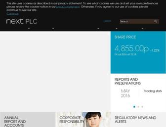 Main page screenshot of nextplc.co.uk