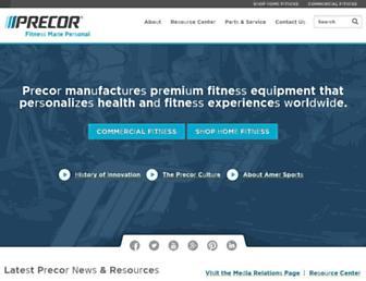 precor.com screenshot
