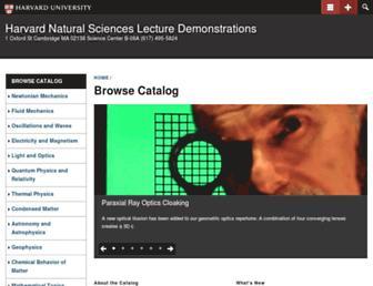sciencedemonstrations.fas.harvard.edu screenshot