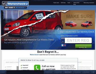 motorcheck.ie screenshot