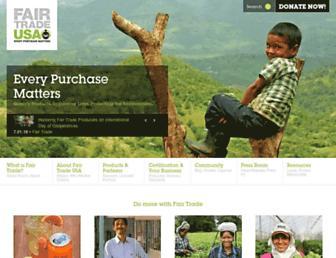 fairtradeusa.org screenshot