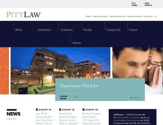 Main page screenshot of jurist.law.pitt.edu