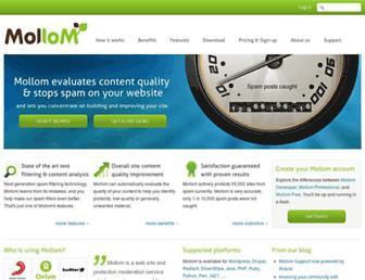Thumbshot of Mollom.com