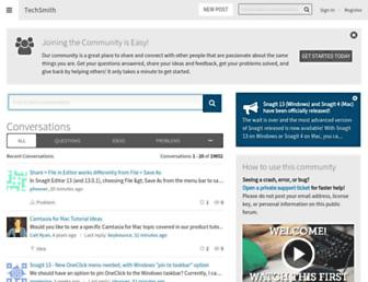 feedback.techsmith.com screenshot