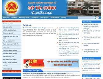 Main page screenshot of stc.bacgiang.gov.vn
