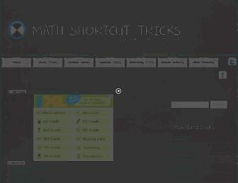 math-shortcut-tricks.com screenshot