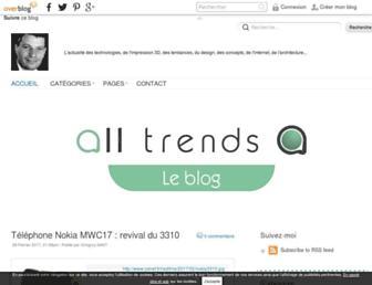 Main page screenshot of alltrends.over-blog.net