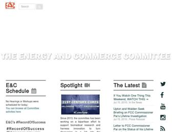 Main page screenshot of energycommerce.house.gov