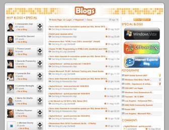 Main page screenshot of blogs.dotnethell.it