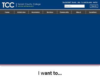 tccd.edu screenshot