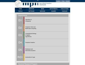 mpi-inf.mpg.de screenshot