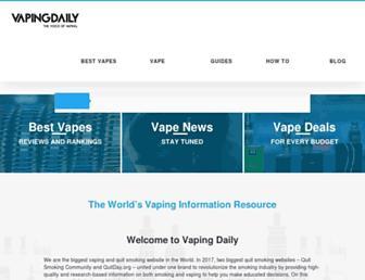 vapingdaily.com screenshot