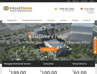 hostdime.com screenshot