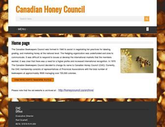 honeycouncil.ca screenshot