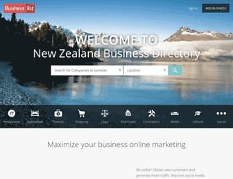 businesslist.nz screenshot