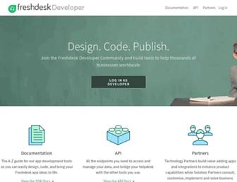 developers.freshdesk.com screenshot