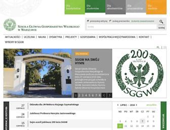 Main page screenshot of sggw.pl