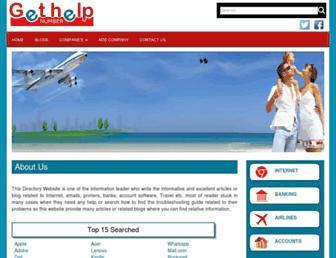 gethelpnumber.com screenshot