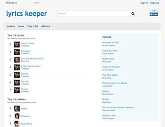 lyrics-keeper.com screenshot