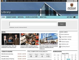 library.ucalgary.ca screenshot