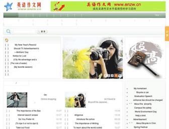 Main page screenshot of enzw.cn