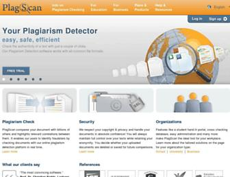 plagscan.com screenshot