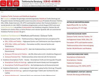 Main page screenshot of vodafone-flatrate-angebote.de