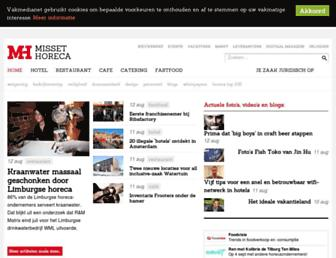 Main page screenshot of missethoreca.nl