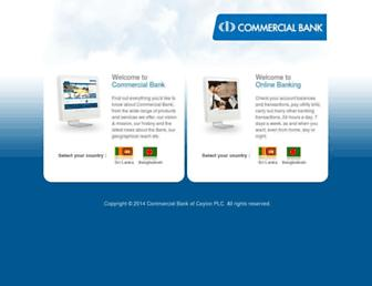 Main page screenshot of combank.net