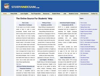 studyandexam.com screenshot
