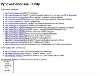 Main page screenshot of vyncke.org