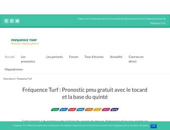 frequence-turf.fr screenshot