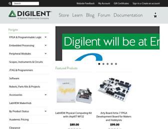 store.digilentinc.com screenshot