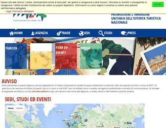 Main page screenshot of enit.it