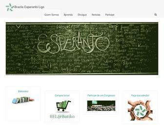 Main page screenshot of esperanto.org.br