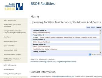 facilities.soe.ucsc.edu screenshot